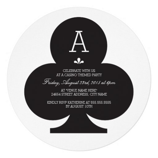 Red Poker Chip Birthday Party Invitation (back side)