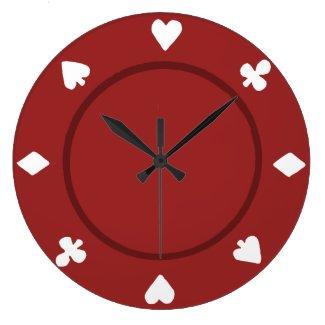 Red Poker Chip Clock