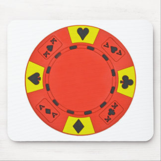 Red Poker Chip Mouse Pad