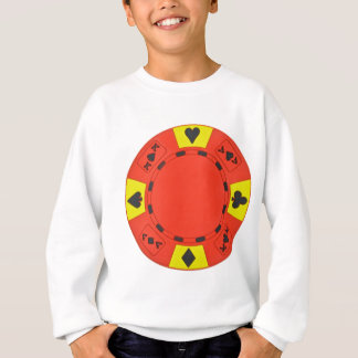 Red Poker Chip Sweatshirt