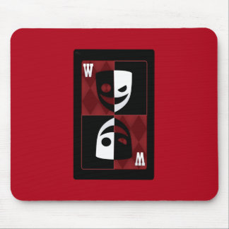 Red Poker WildCard Faces Mouse Pad