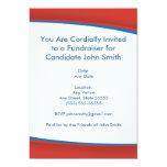 """Red Political Invite 5"""" X 7"""" Invitation Card"""