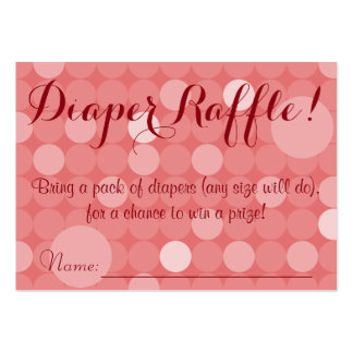 Red Polka Dot Baby Shower Diaper Raffle Tickets Large Business Cards (Pack Of 100)