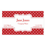 Red Polka Dot Business Card
