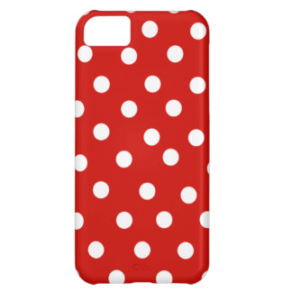Red Polka Dot Case For iPhone 5C