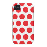 Red polka dot Case-Mate iPhone 4 case