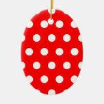 Red Polka Dot Christmas Ornament