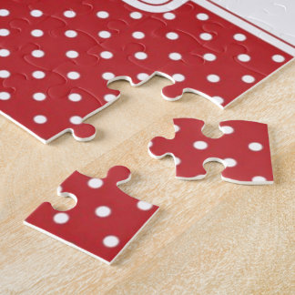 Red Polka Dot Congratulations Jigsaw Puzzle