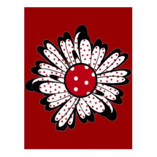 Red Polka Dot Daisy Postcard