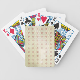Red polka Dot Grunge background Bicycle Playing Cards