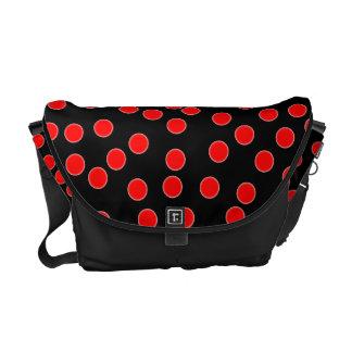 Red Polka Dot Messenger Bag.