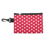 Red Polka Dot Pattern Accessories Bag