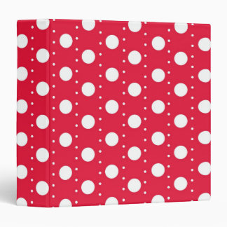 Red Polka Dot Pattern Binder