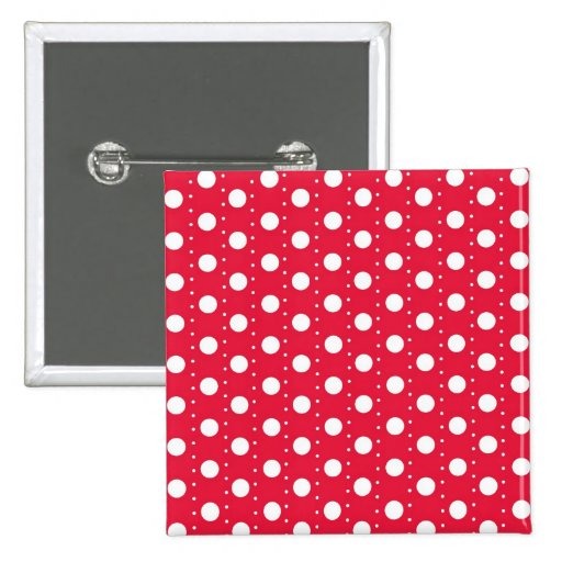Red Polka Dot Pattern Buttons