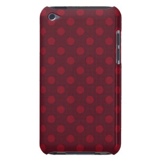 Red polka dot pattern Case-Mate iPod touch case