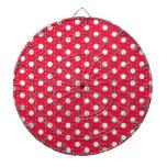 Red Polka Dot Pattern Dartboards