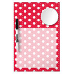 Red Polka Dot Pattern Dry-Erase Boards