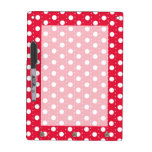 Red Polka Dot Pattern Dry-Erase Whiteboard