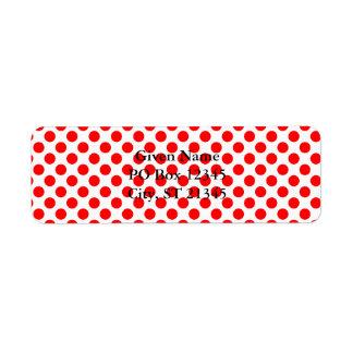 Red Polka Dot Pattern Label