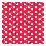 Red Polka Dot Pattern Photo Print