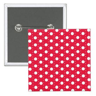 Red Polka Dot Pattern Pinback Button