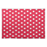 Red Polka Dot Pattern Place Mat