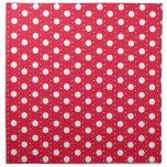 Red Polka Dot Pattern Printed Napkins