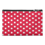 Red Polka Dot Pattern Travel Accessory Bag