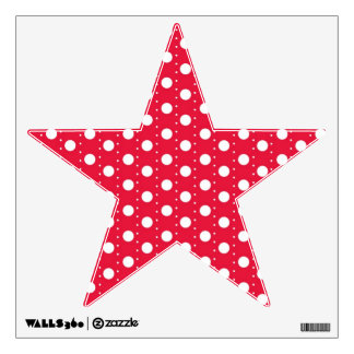 Red Polka Dot Pattern Wall Decal