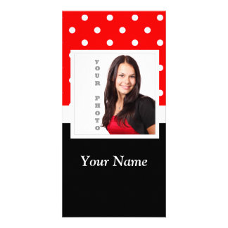 Red Polka dot photo template
