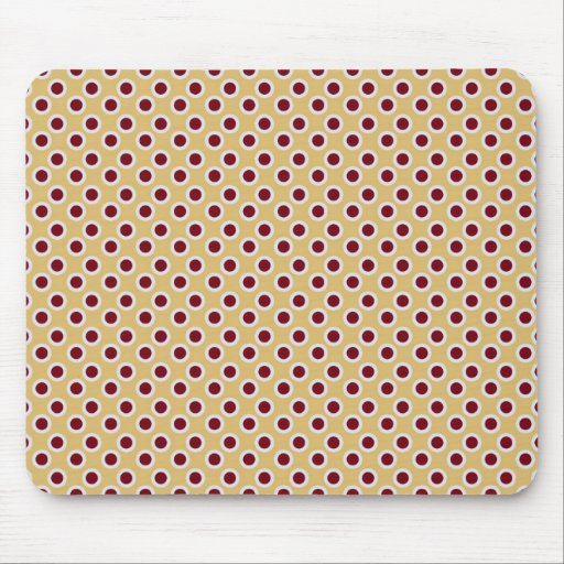 Red polka dot print pattern mouse pad