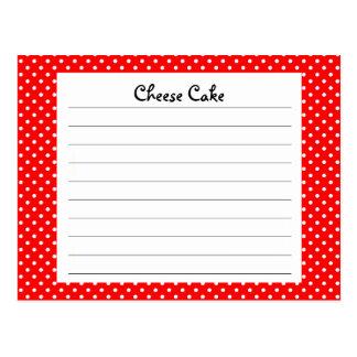 Red Polka Dot Recipe Card