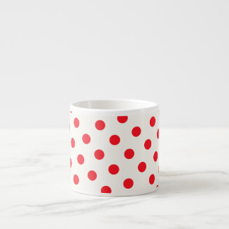 Red Polka Dot Retro Design Espresso Cup