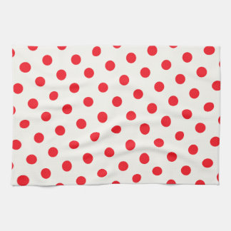 Red Polka Dot Retro Design Kitchen Towel