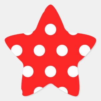 Red Polka Dot Star Sticker