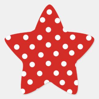 red polka dot  sticker