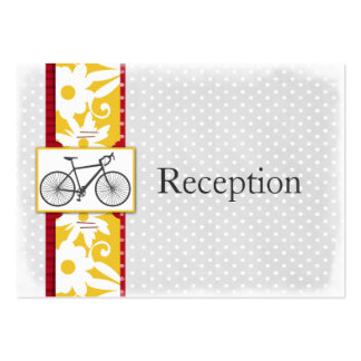 red polka dots bicycle  Reception Cards