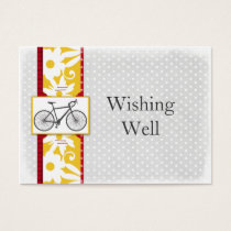 red polka dots bicycle wishing well cards