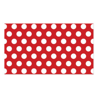 Red Polka Dots Blank Business Card Template