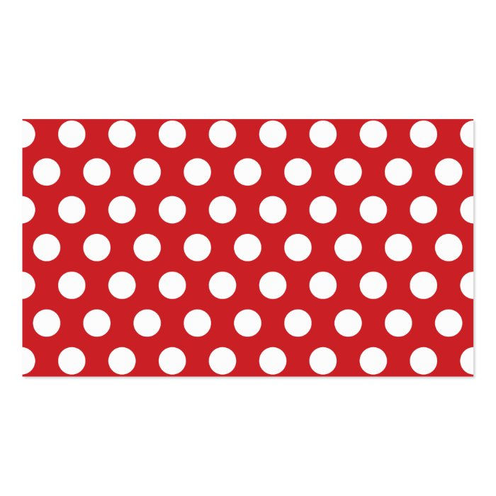 Red polka dots blank business card template zazzle for Polka dot business card templates free