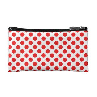 Red Polka Dots Cosmetic Bag