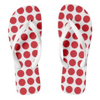 Red Polka Dots Flip Flops