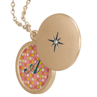 Red polka dots,fun, girly,happy,kids,cute,trendy locket