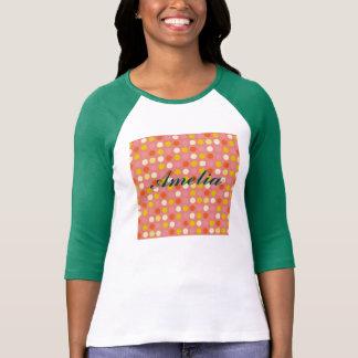 Red polka dots,fun, girly,happy,kids,cute,trendy tee shirts