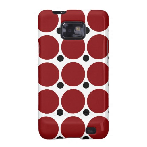 Red Polka Dots Galaxy SII Covers
