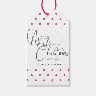 Red polka dots gift tags