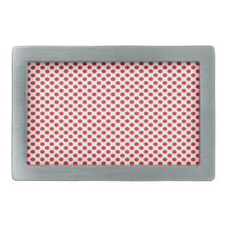 Red Polka Dots on White Belt Buckles