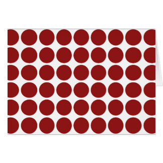 Red Polka Dots on White Card