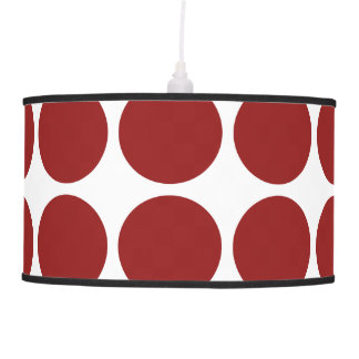 Red Polka Dots on White Hanging Lamp