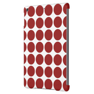 Red Polka Dots on White iPad Air Cover